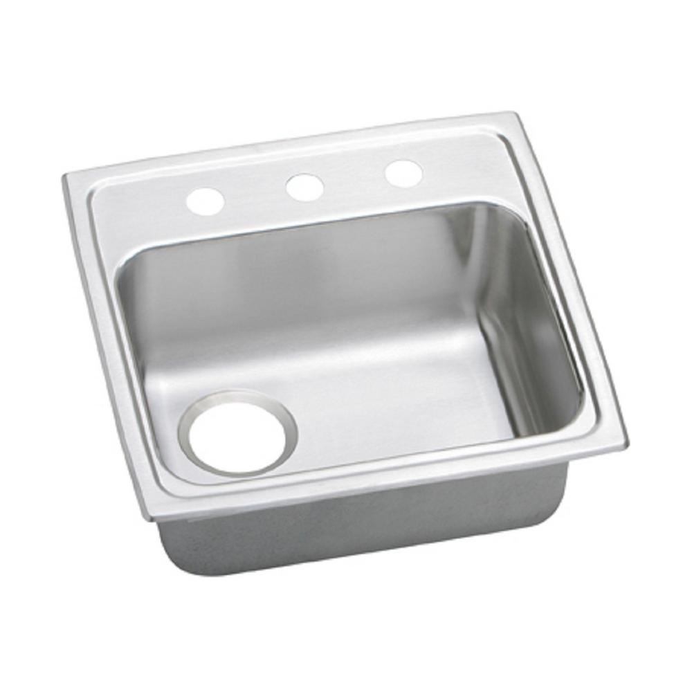 elkay celebrity drop in stainless steel 20 in 2 hole single bowl rh homedepot com