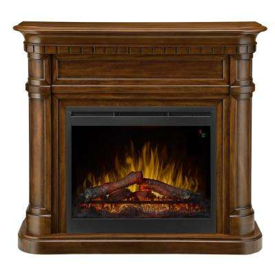 Charleston 47 in. Freestanding Electric Mantel in Burnished Walnut