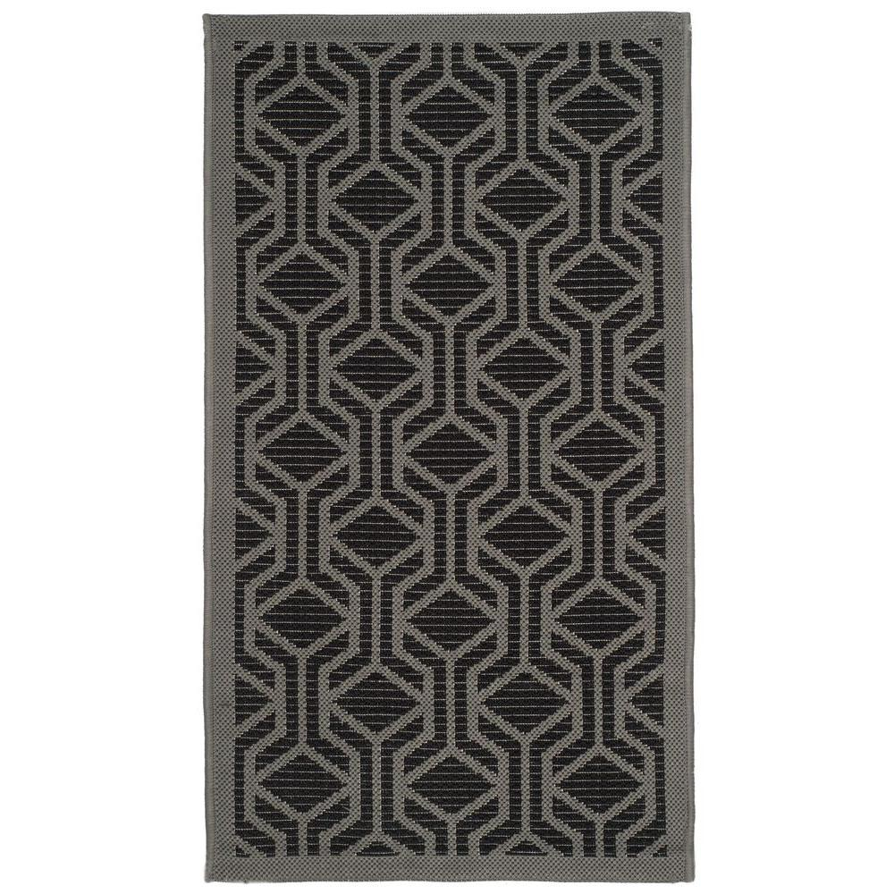 Courtyard Black/Anthracite 2 ft. x 3 ft. 7 in. Indoor/Outdoor Area