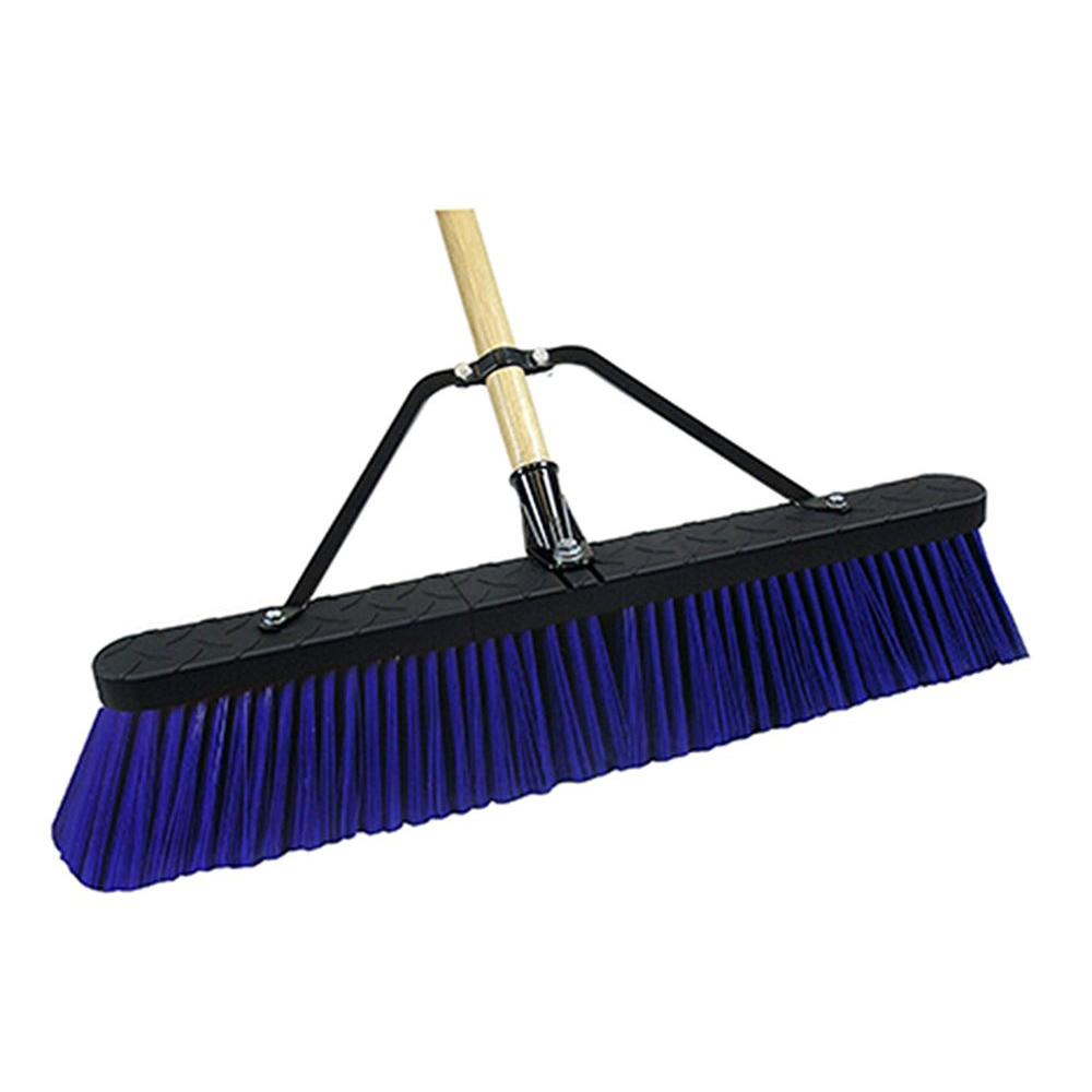 Quickie Job Site 24 in. Rough Surface Push Broom