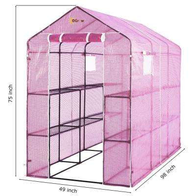 2-Tier 12 Shelf Greenhouse PE Replacement Cover
