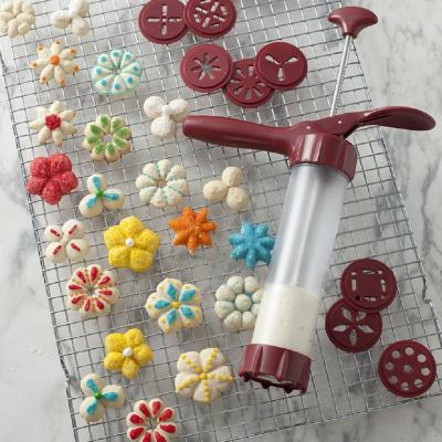 13-Piece Cookie Press with 12 Cookie Discs