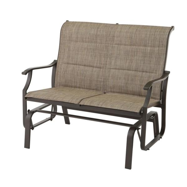 Riverbrook Espresso Brown 2-Person Aluminum Outdoor Patio Padded Sling Glider