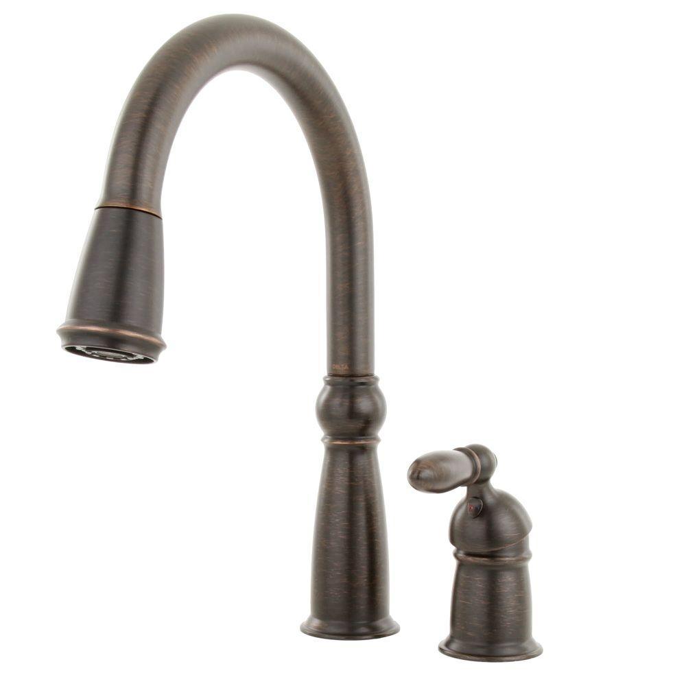 Victorian Single-Handle Pull-Down Sprayer Kitchen Faucet with MagnaTite Docking in Venetian Bronze