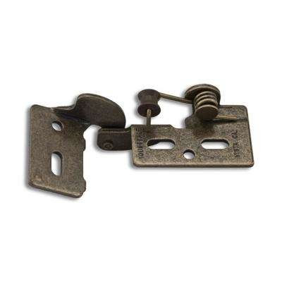 Antique Brass #4 3/8 in. Lip Inset Non-Wrap Self-Closing Hinge