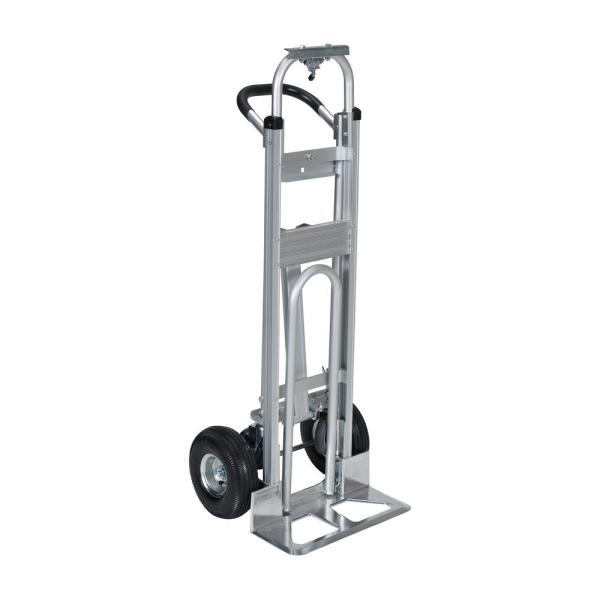 20.5 in. x 52 in. Aluminum Convertible 500 lbs. Capacity 3-Position Hand Truck