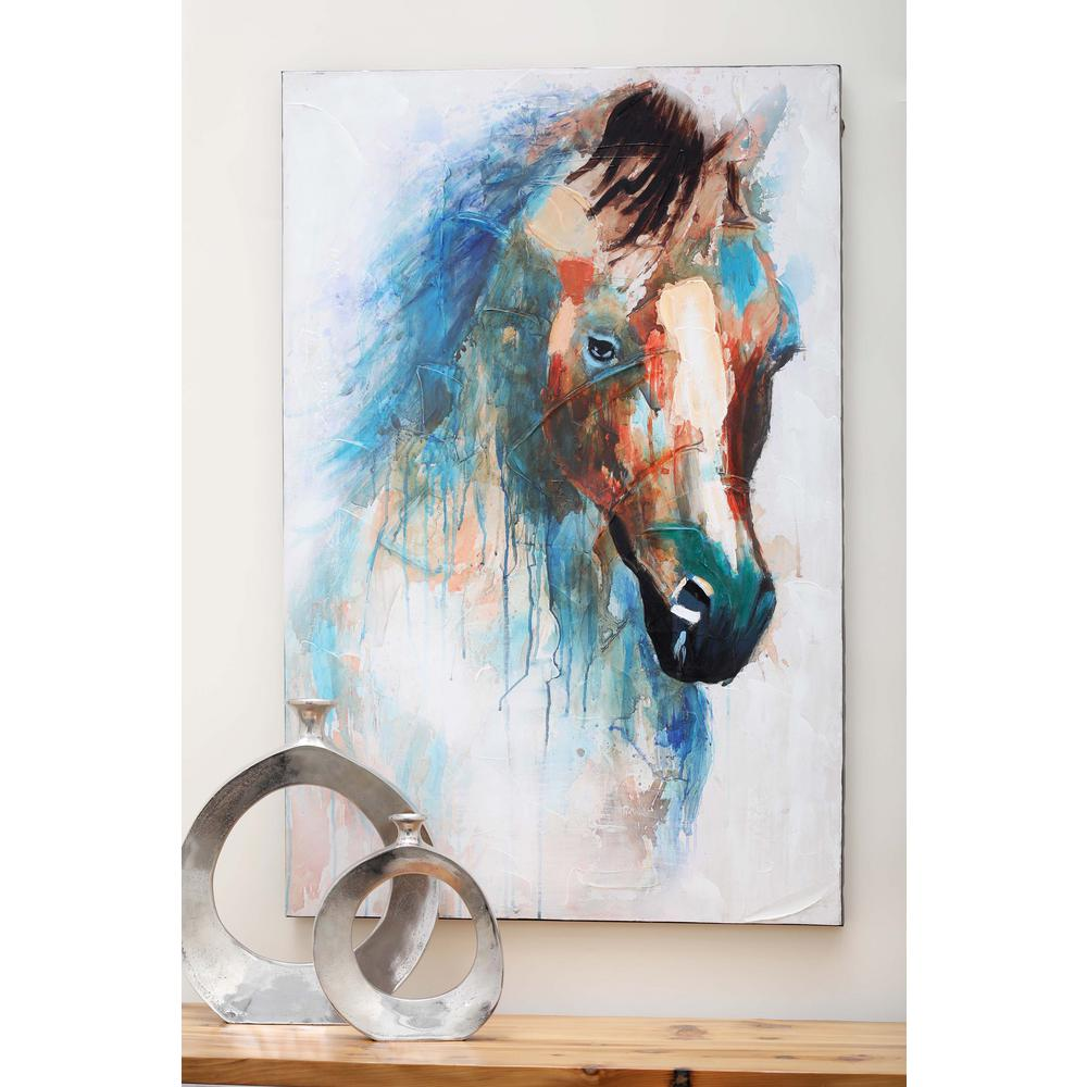 Litton Lane 47 In X 32 In Quot Mystic Horse Quot Canvas Art