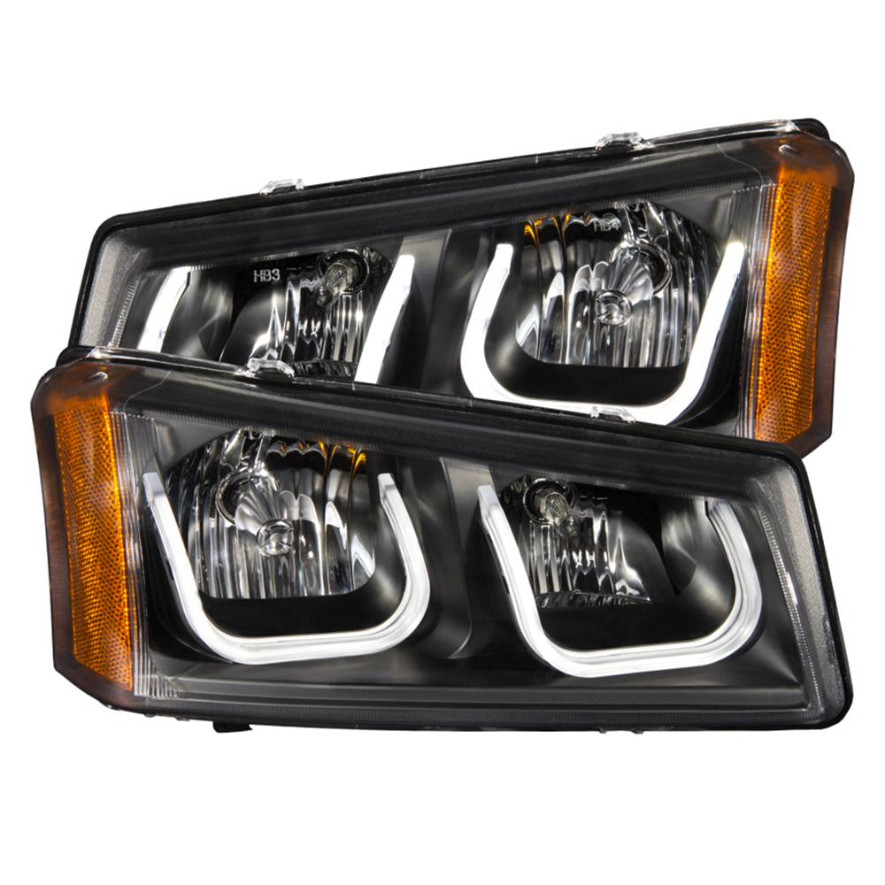 2003 2006 Chevrolet Silverado 1500 Projector Headlights W U Bar Black