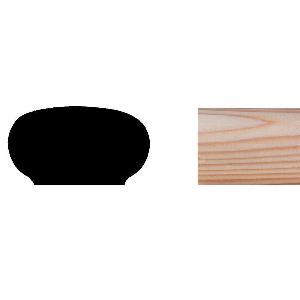 LWM240 1-3/16 in. x 2-1/4 in. Hemlock Wood Handrail Moulding