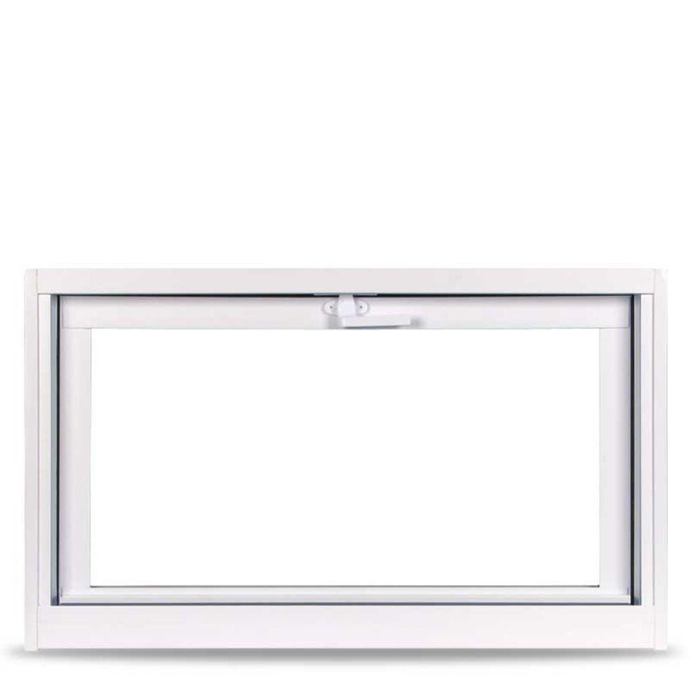 X 12 75 In White Hopper Vinyl Window, 32 X 12 Basement Window