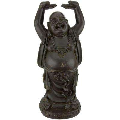 Oriental Furniture 3 ft. Tall Standing Laughing Buddha Decorative Statue
