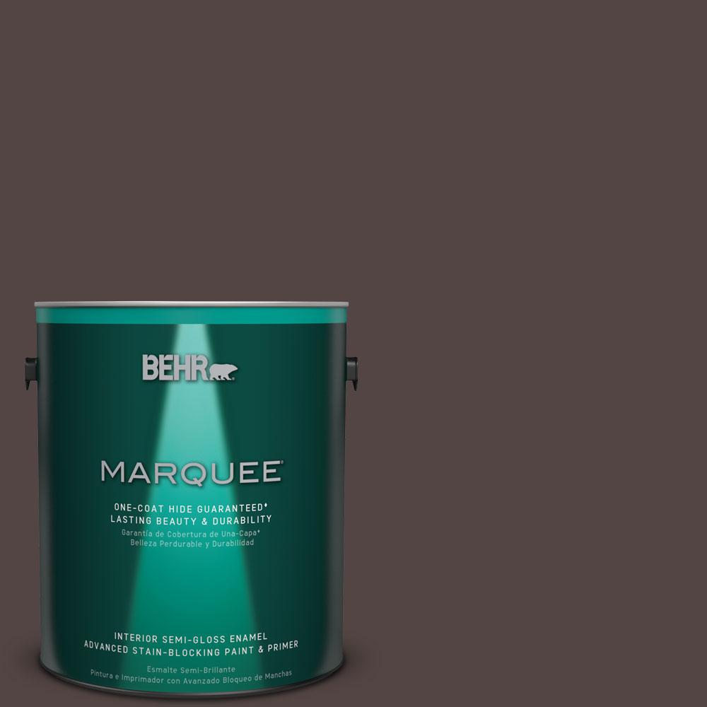 1 gal. #HDC-MD-13 Rave Raisin One-Coat Hide Semi-Gloss Enamel Interior Paint