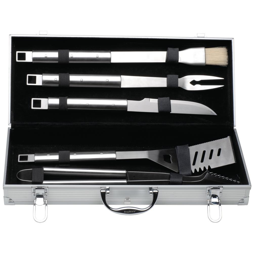 BergHOFF Cubo 6-Piece Stainless Steel Barbecue Set with Case