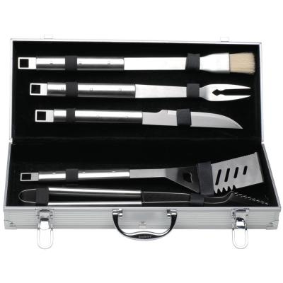 Cubo 6-Piece Stainless Steel Barbecue Set with Case