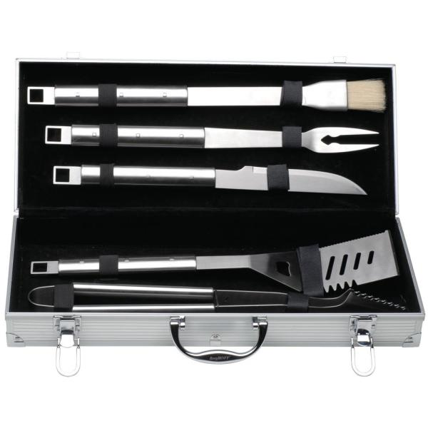 BergHOFF Cubo 6-Piece Stainless Steel Barbecue Set with Case 1108179