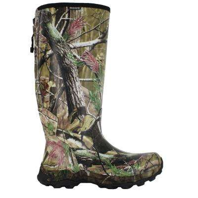 Diamondback Camo Men's 16 in. Size 8 Realtree Puncture Proof Rubber Waterproof Snake Boot