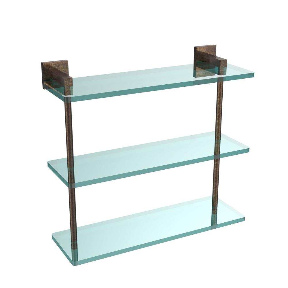 Allied Brass Montero 16 in. L x 15 in. H x 6-1/4 in. W 3-Tier Clear ...