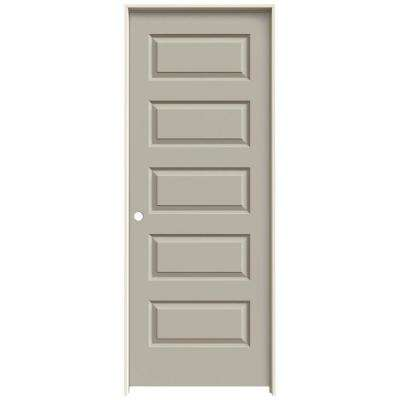 32 in. x 80 in. Rockport Desert Sand Painted Right-Hand Smooth Molded Composite MDF Single Prehung Interior Door