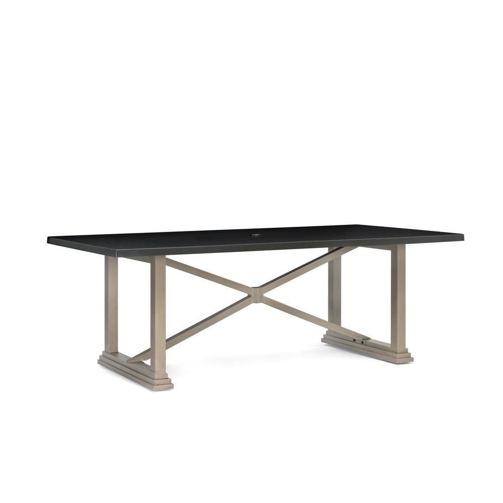 Saylor Rectangular Aluminum Top Outdoor Dining Table