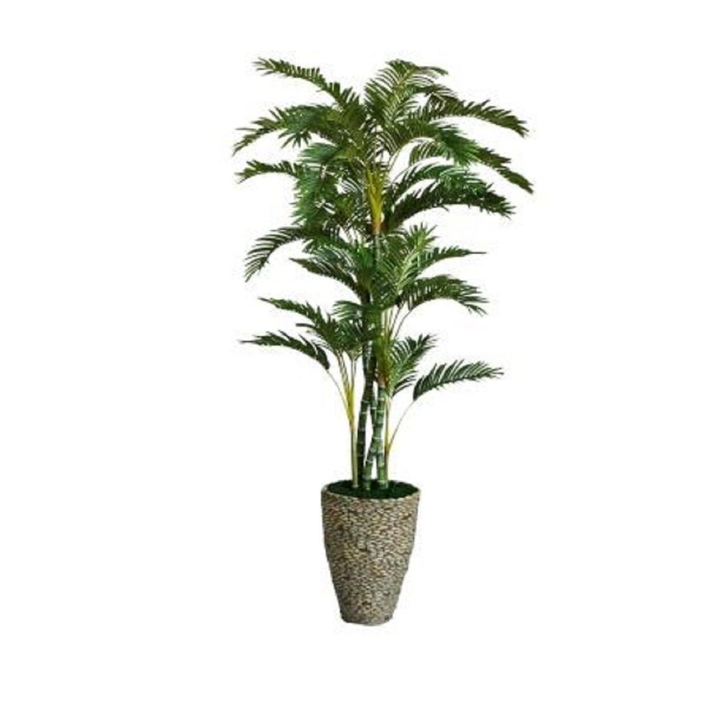 86 in. Tall Palm Tree in 16 in. Fiberstone Planter