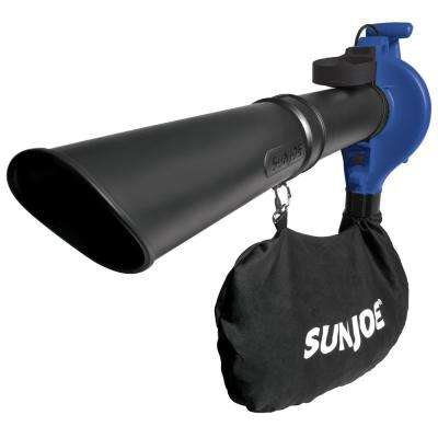 240 MPH 300 CFM Handheld 13 Amp Electric 3-in-1 Leaf Blower/Vacuum/Mulcher in Blue