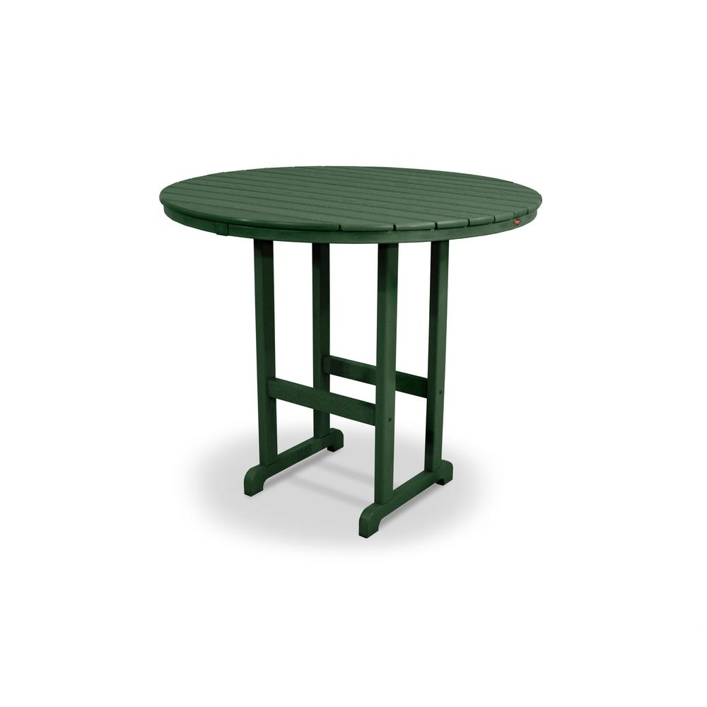 Monterey Bay Rainforest Canopy 48 in. Round Patio Bar Table