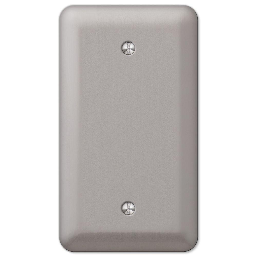 Devon 1 Blank Wall Plate - Brushed Nickel