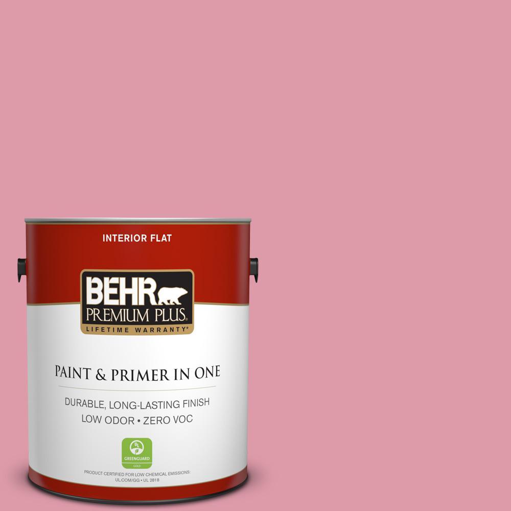 BEHR Premium Plus 1-gal. #110C-3 Glamour Zero VOC Flat Interior Paint