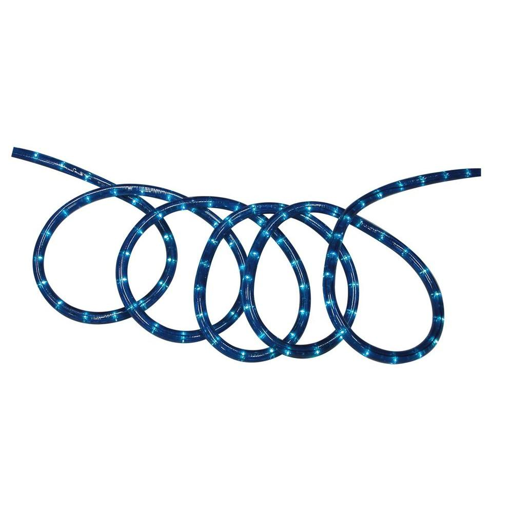 Hampton bay 18 ft blue rope light kit ml 2w 18 120v b the home depot hampton bay 18 ft blue rope light kit aloadofball