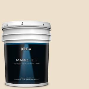 Behr Marquee 5 Gal Ppf 12 Sunny Gazebo Satin Enamel Exterior Paint Primer 945005 The Home Depot