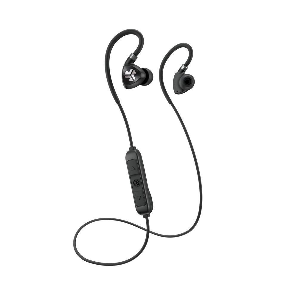 c5772d0759a JLab Fit Sport Wireless Earbuds in Black-EBFIT2RBLK123 - The Home Depot