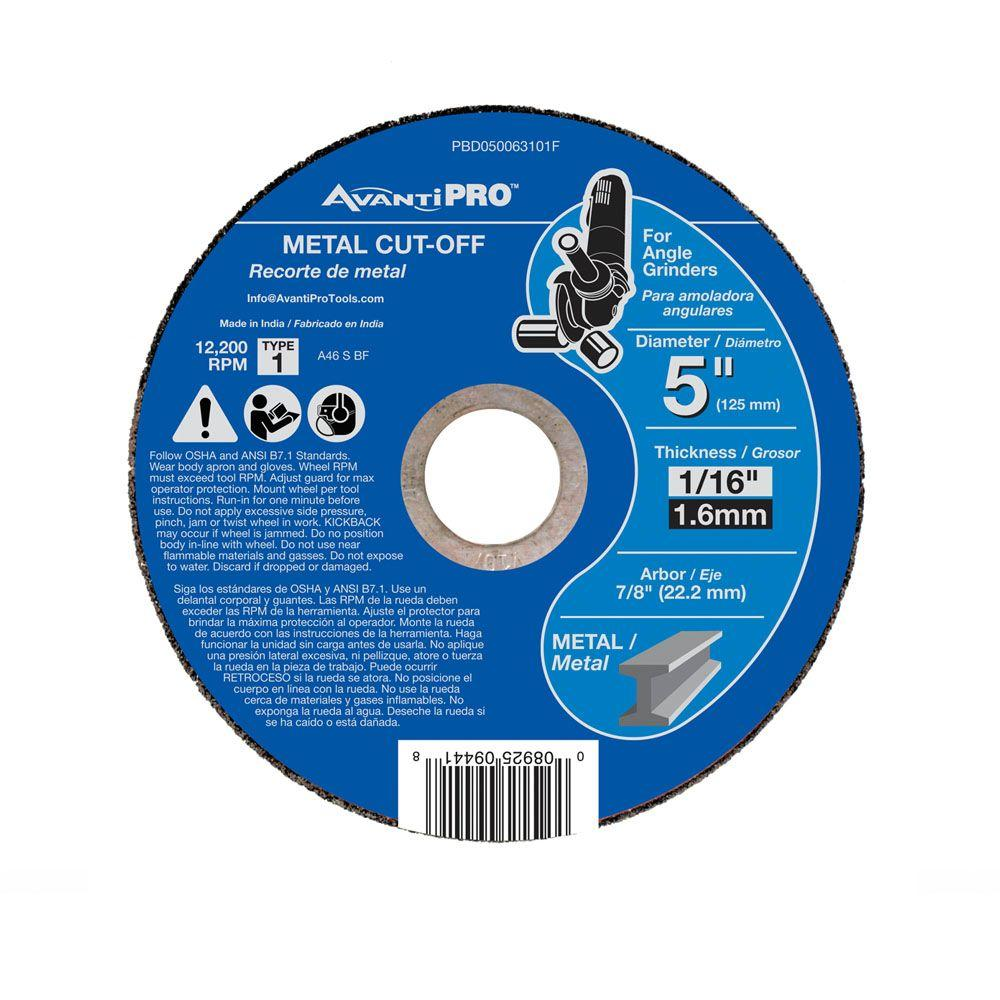 Avanti Pro 5 in. x 1/16 in. x 7/8 in. Thin Kerf Metal Cut-Off Disc
