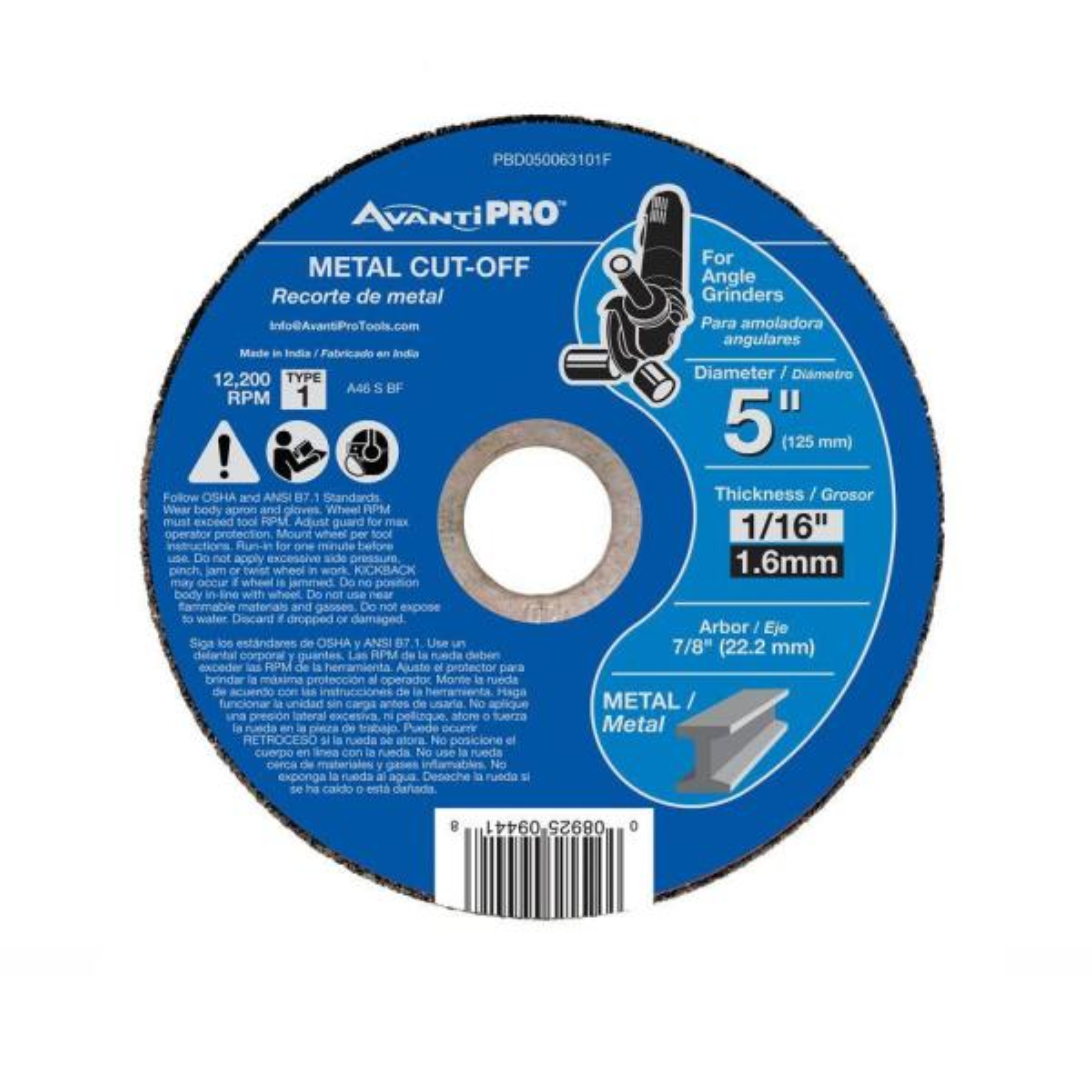 """200 Pack 5/"""" x 1//16/"""" x 7//8 Cut-off-Wheels Cutting Discs Steel /& Metal"""