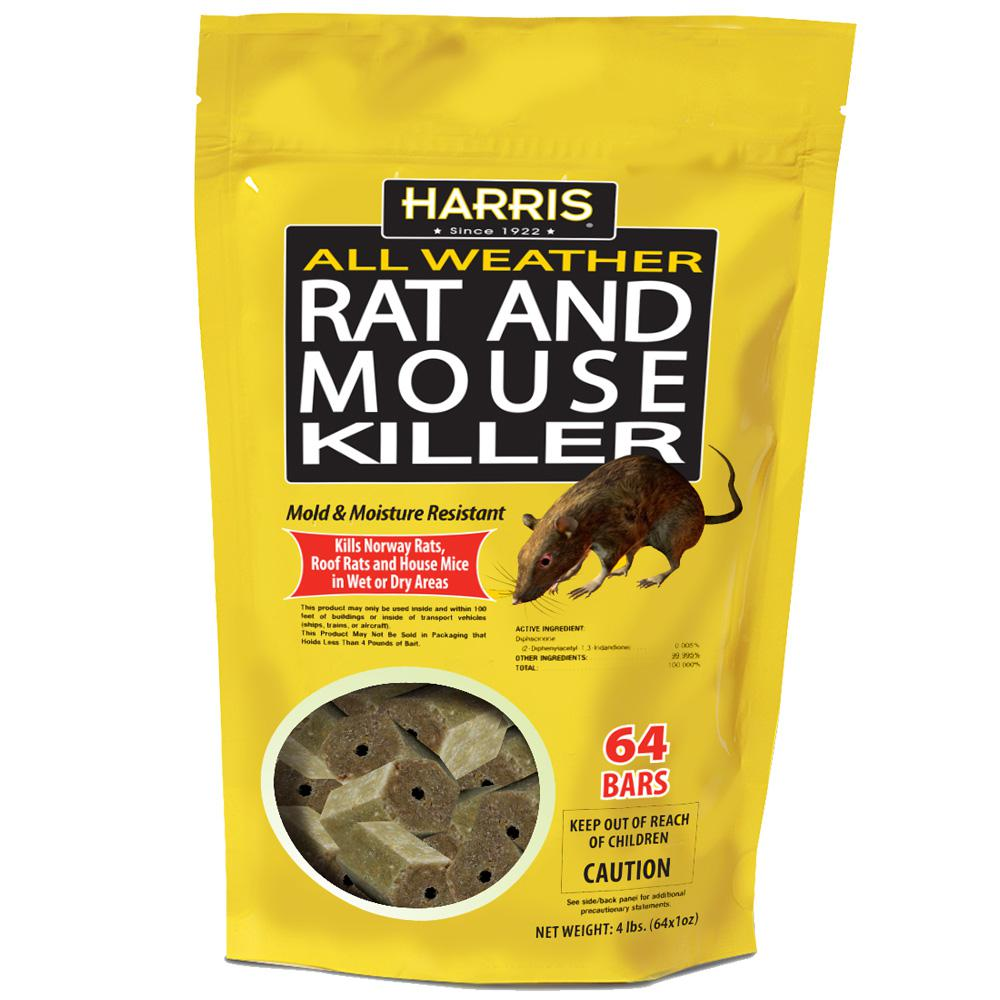 Harris 4 Lbs 64 Bars All Weather Rat And Mouse Killer Hrb