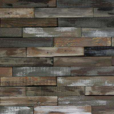 Take Home Sample - Deco Planks Weathered Gray Solid Hardwood Wall Planks - 5 in. x 7 in.