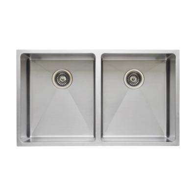 The Chefs Series Undermount  Stainless Steel 31 in. Handmade Single Bowl Kitchen Sink Package