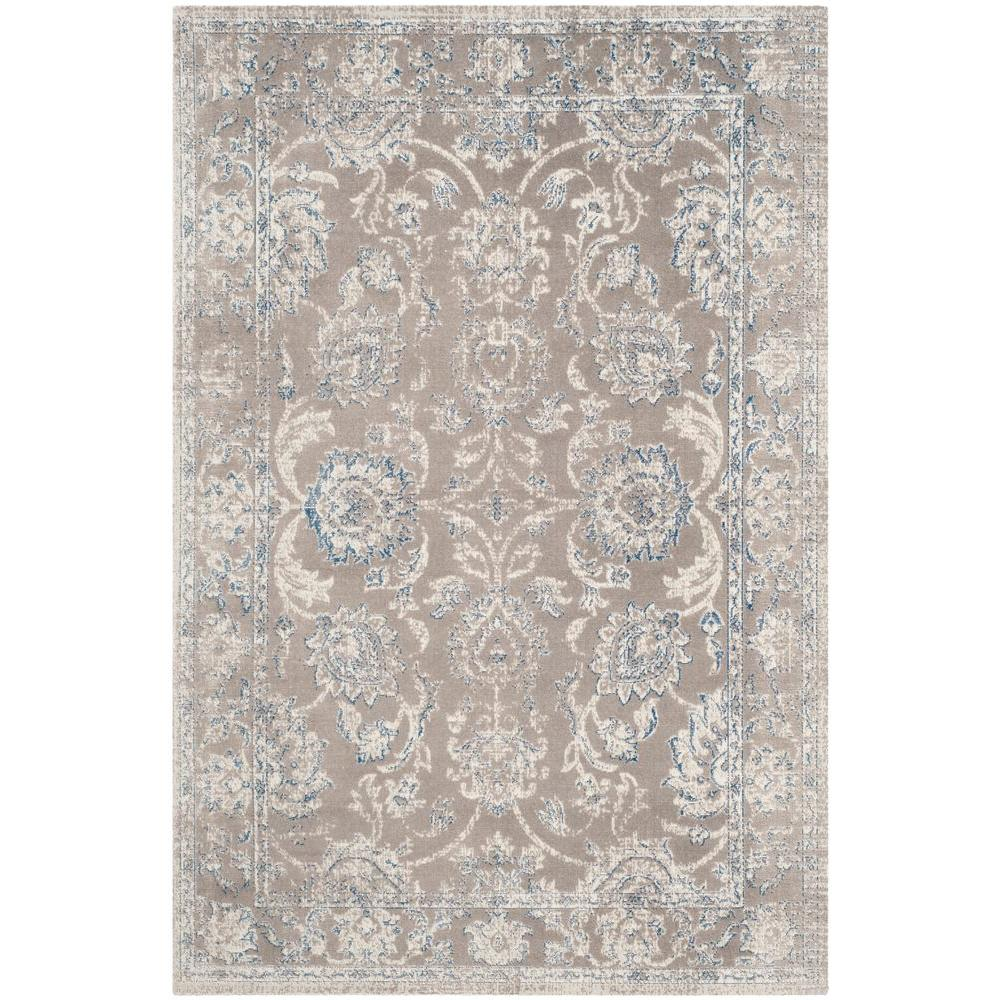 Safavieh Patina Taupe Blue 8 Ft X 10 Ft Area Rug Ptn316b