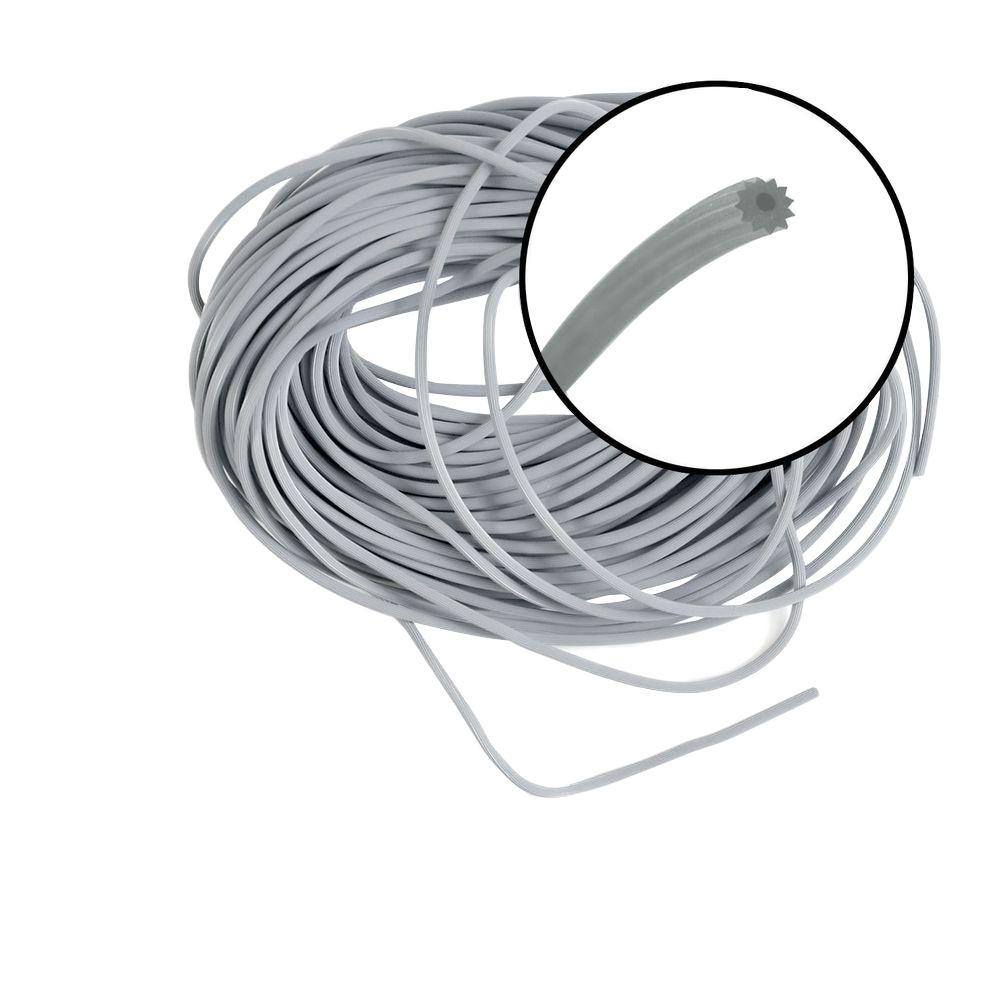 Phifer 0.125 in. x 100 ft. Gray Spline