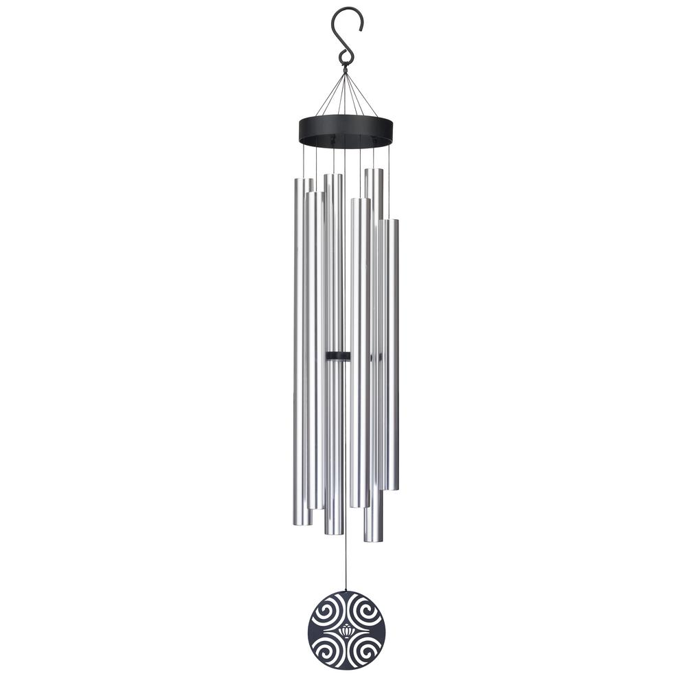 Precision-Tuned Majestic 72 in. Aluminum and Steel Double Wind Chime