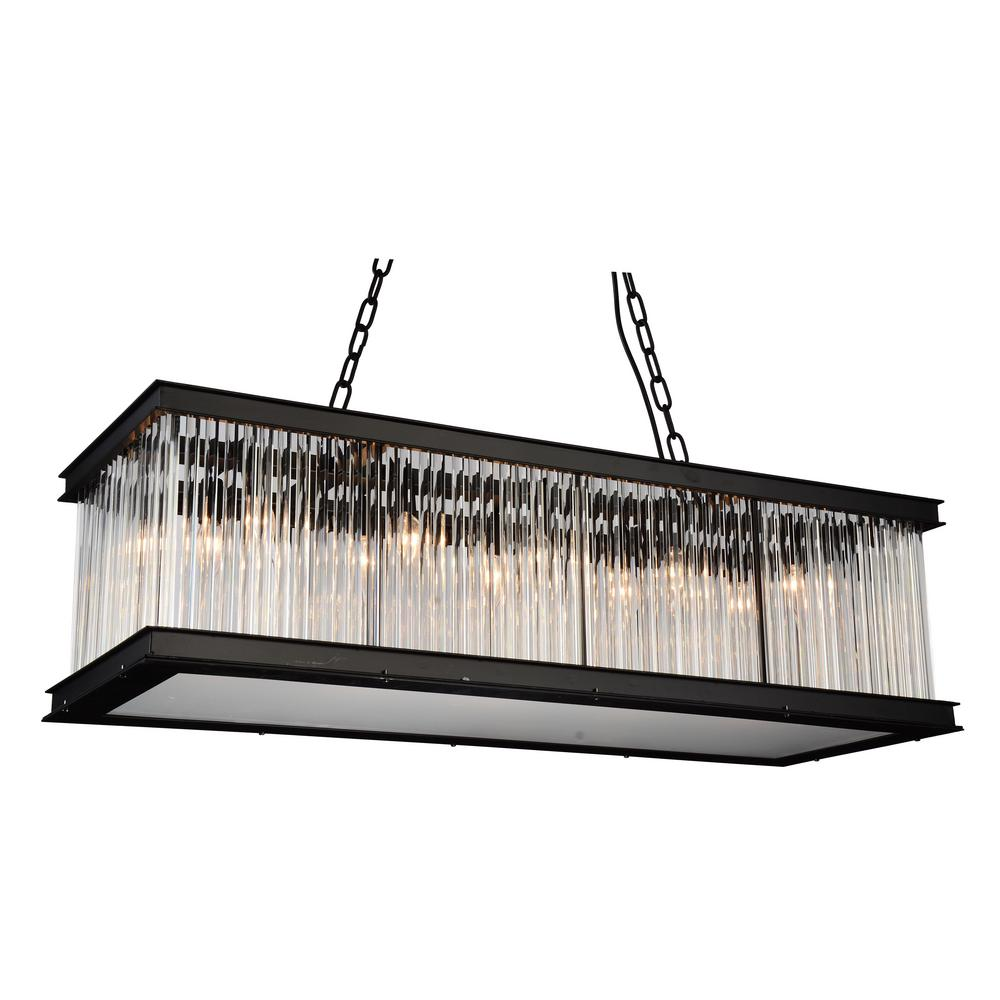 CWI Lighting Mira 10-Light Black Chandelier