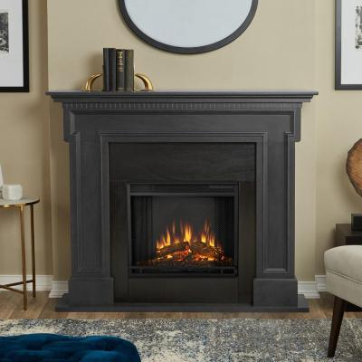 Thayer 54 in. Electric Fireplace in Gray