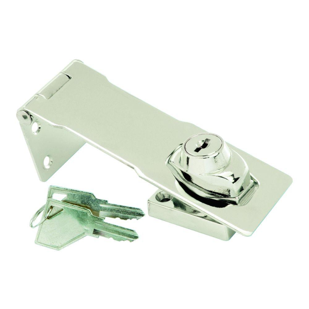 4-1/2 in. Chrome Keyed Alike Hasp Lock