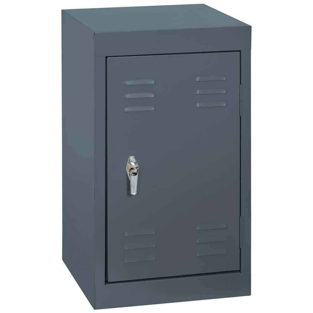 Sandusky 15 in. W x 15 in. D x 24 in. H Single Tier Welded Steel Locker in Charcoal