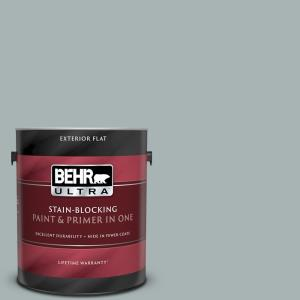 Behr Ultra 1 Gal 730f 4 Flint Smoke Flat Exterior Paint And Primer In One 485401 The Home Depot