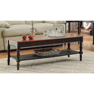 French Country Black and Cherry Coffee Table