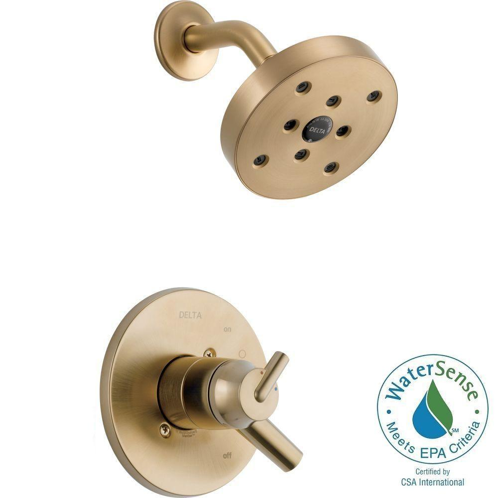 Delta Trinsic 1-Handle Shower Only Faucet Trim Kit in Champagne ...