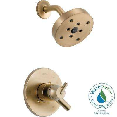 Trinsic 1-Handle Shower Only Faucet Trim Kit in Champagne Bronze (Valve Not Included)