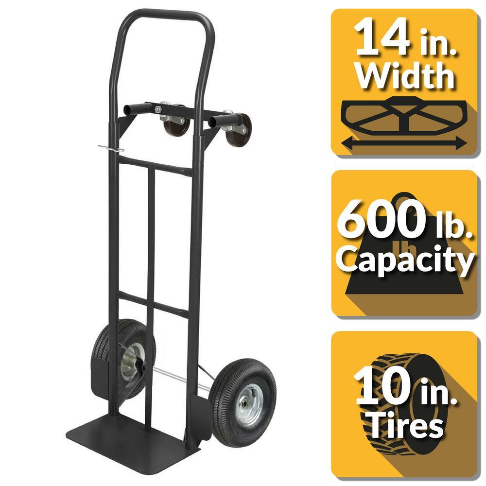 600 lbs. Capacity 2-in-1 Convertible Hand Truck