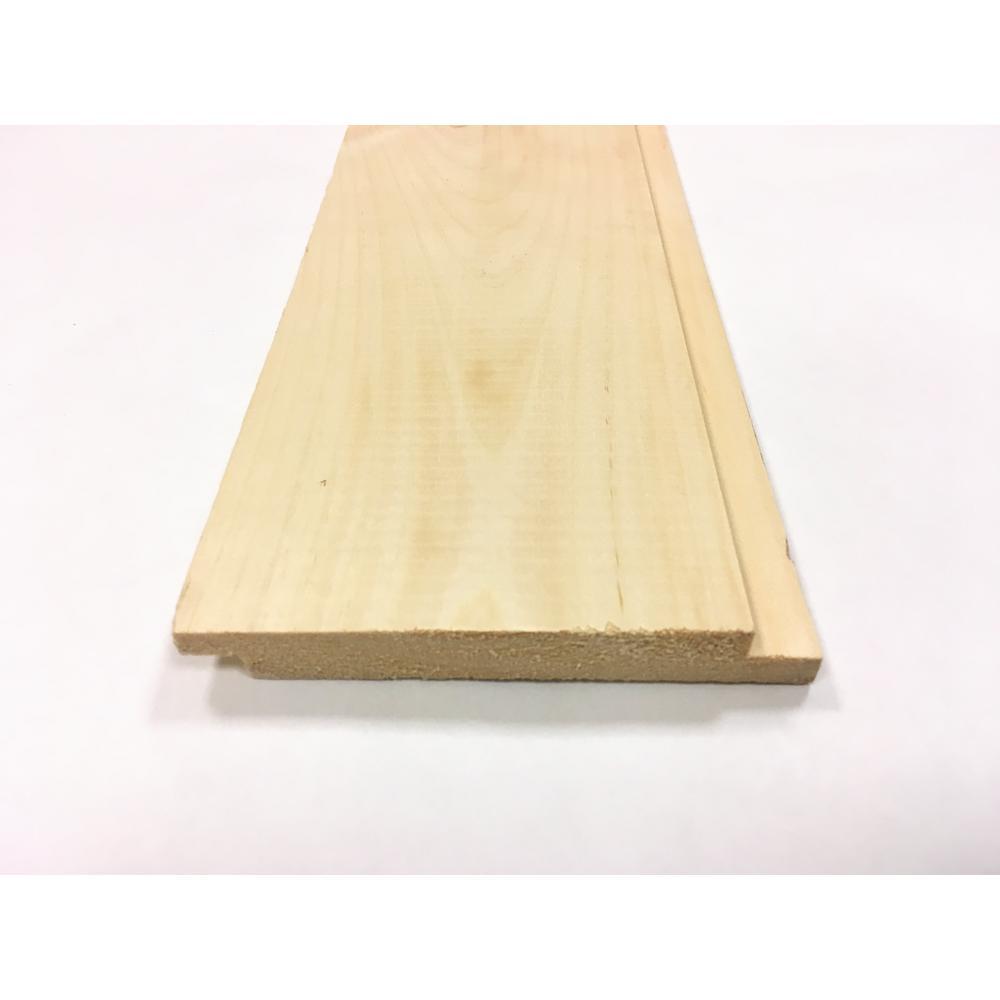 1 in. x 6 in. x 8 ft. Premium Nickel Gap Pattern Whitewood Board