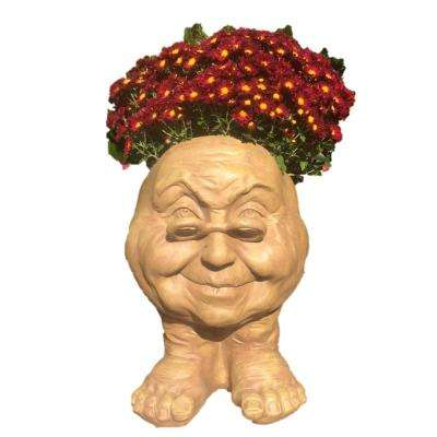 14 in. Stone Wash Grandma Violet Muggly Planter Statue Holds 6 in. Pot